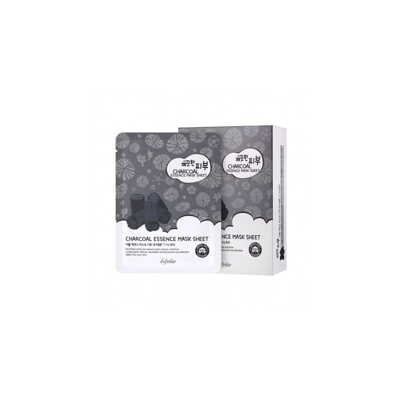 Тканевая маска c углем ESFOLIO PURE SKIN CHARCOAL ESSENCE MASK, 1 шт