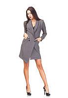 Ассиметричное платье-пиджак оптом. П130_костюмка, фото 1