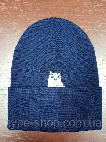 Зимняя шапка в стиле RipNDip   Топ качество!