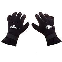 Перчатки c откидными пальцами Dolvor, 3 мм. неопрен, p-p L, черный (SS6105-1L3)