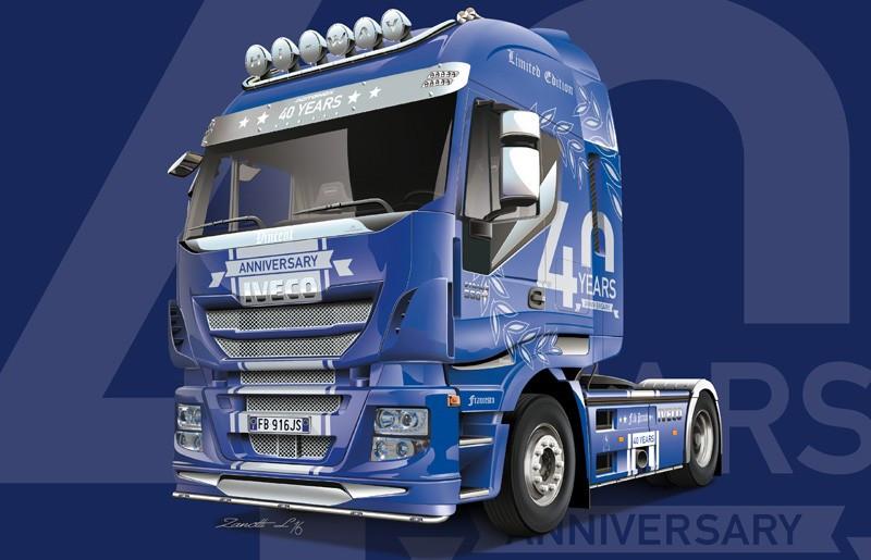 IVECO HI-WAY 40TH ANNIVERSARY. Сборная модель грузового автомобиля. 1/24 ITALERI 3919