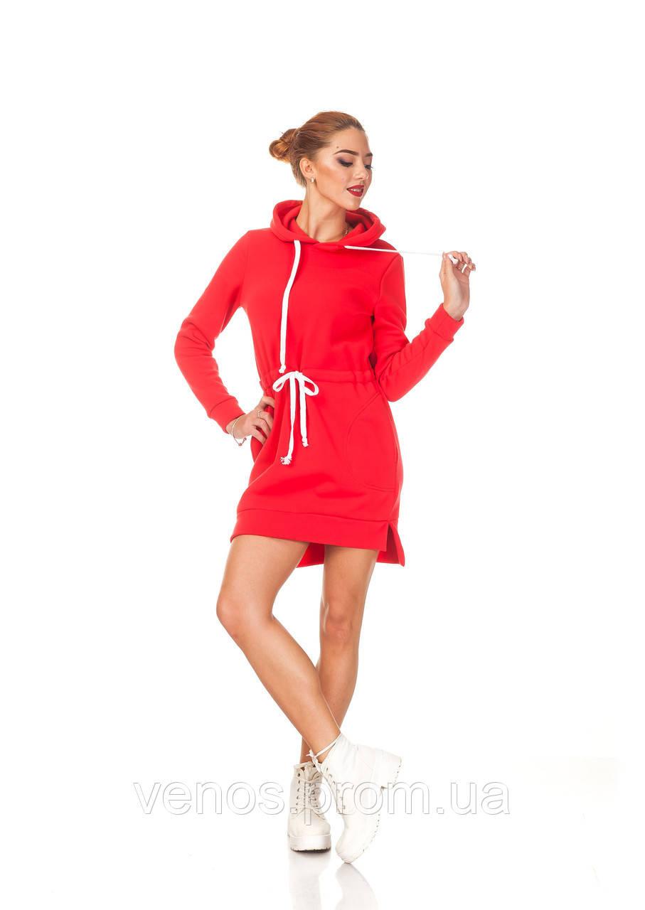Женское платье толстовка с карманами. П132