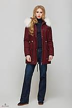 Зимняя Парки с мехом Бордовая, фото 2