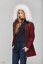 Зимняя Парки с мехом Бордовая, фото 3