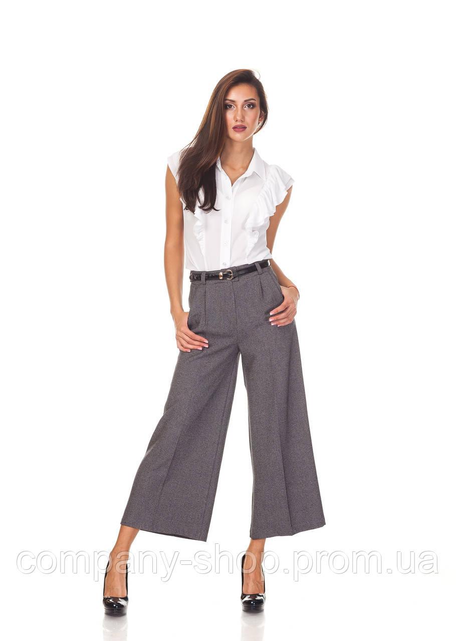 Женские брюки-кюлоты оптом. КЮЛ001_клетка костюмка