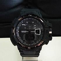 Спортивные наручные часы Casio Касио G-Shock GWA-1100 Black White Касио реплика, фото 2