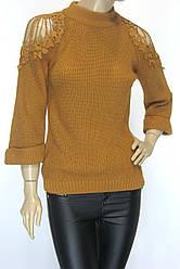 Жіночий светр з відкритими плечима і широкими рукавами Yare