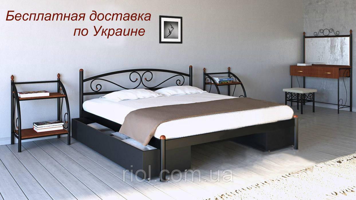 Кровать металлическая Вероника двуспальная