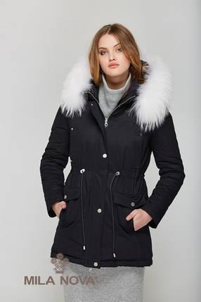 Зимняя Парки с мехом Черный, фото 2