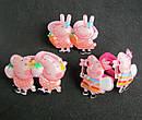 Детские резиночки для волос Свинка Пеппа 10 пар/уп, фото 4