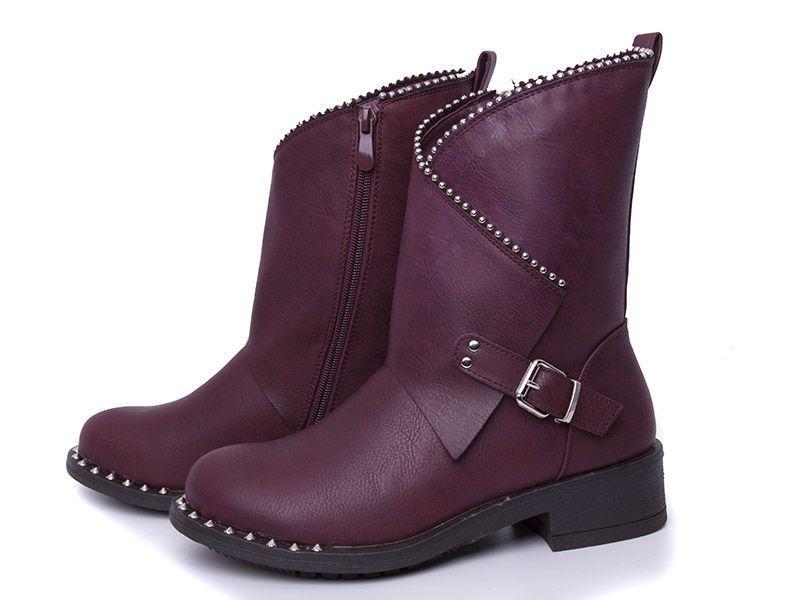 Сапоги женские зимние Violeta, Бордовые, размеры в наличии ► [ 36 37 38 39 41 ]