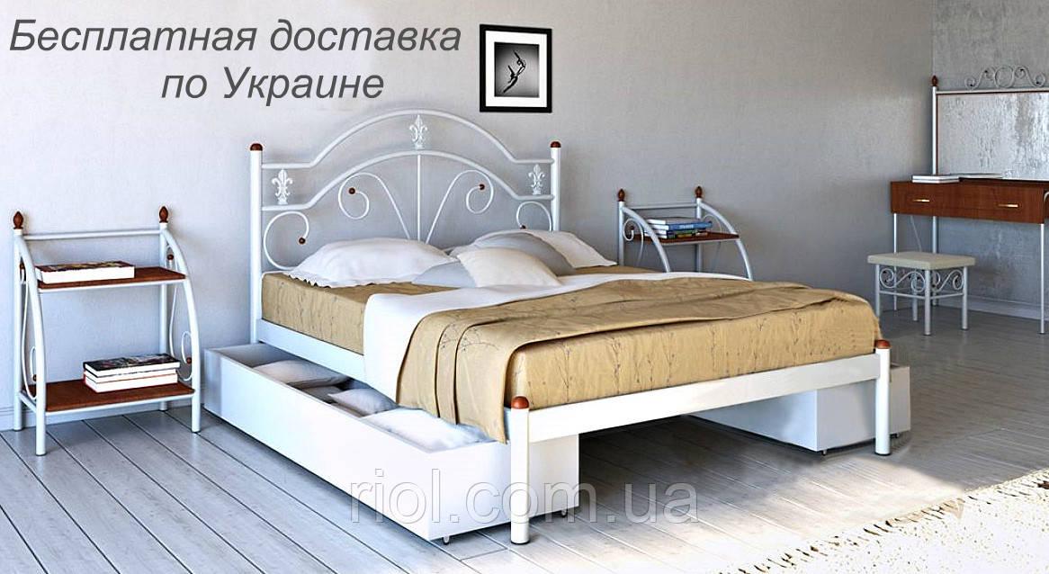 Кровать металлическая Диана двуспальная