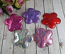 Заколки для волос Цветочки голограмма 10 шт/уп, фото 2