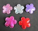 Заколки для волос Цветочки голограмма 10 шт/уп, фото 5