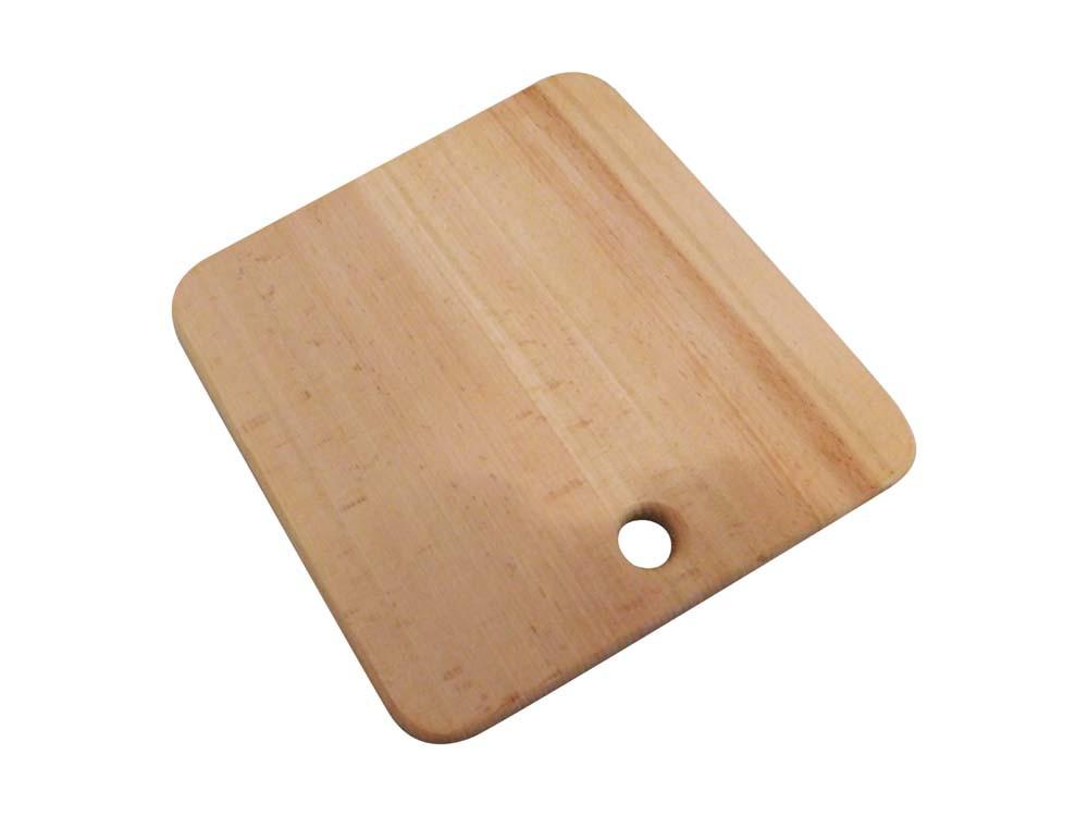 Доска разделочная деревянная прямоугольная (с круглым отверстием)