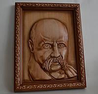 Портрет Т.Г. Шевченка - резьба по дереву 275х360х36 мм, фото 1