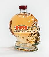 """Пляшка 1л скляна з пластиковою кришкою (закрутка) """"Череп"""", фото 1"""
