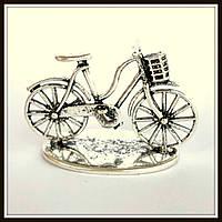 """Метал. подвеска """"Велосипед"""" серебро ( см) 1 шт в уп."""