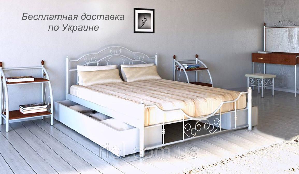 Кровать металлическая Кармен двуспальная