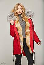 Зимняя Парка с мехом КРАСНЫЙ GOLD FOX, фото 3