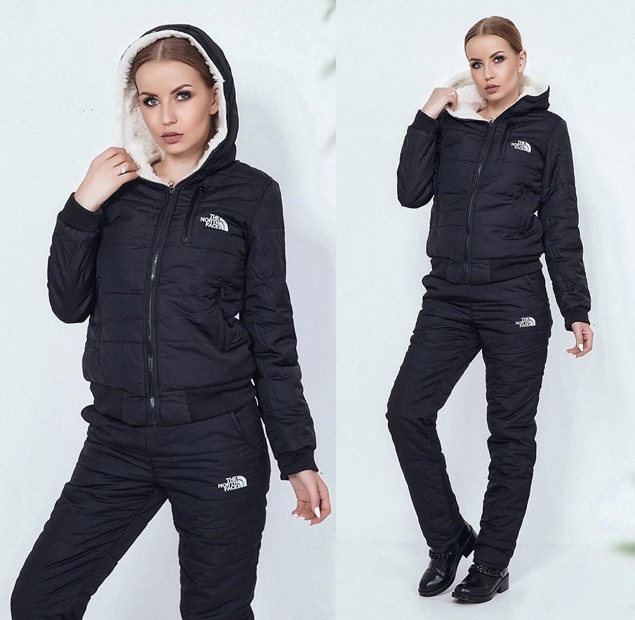 Черный зимний костюм