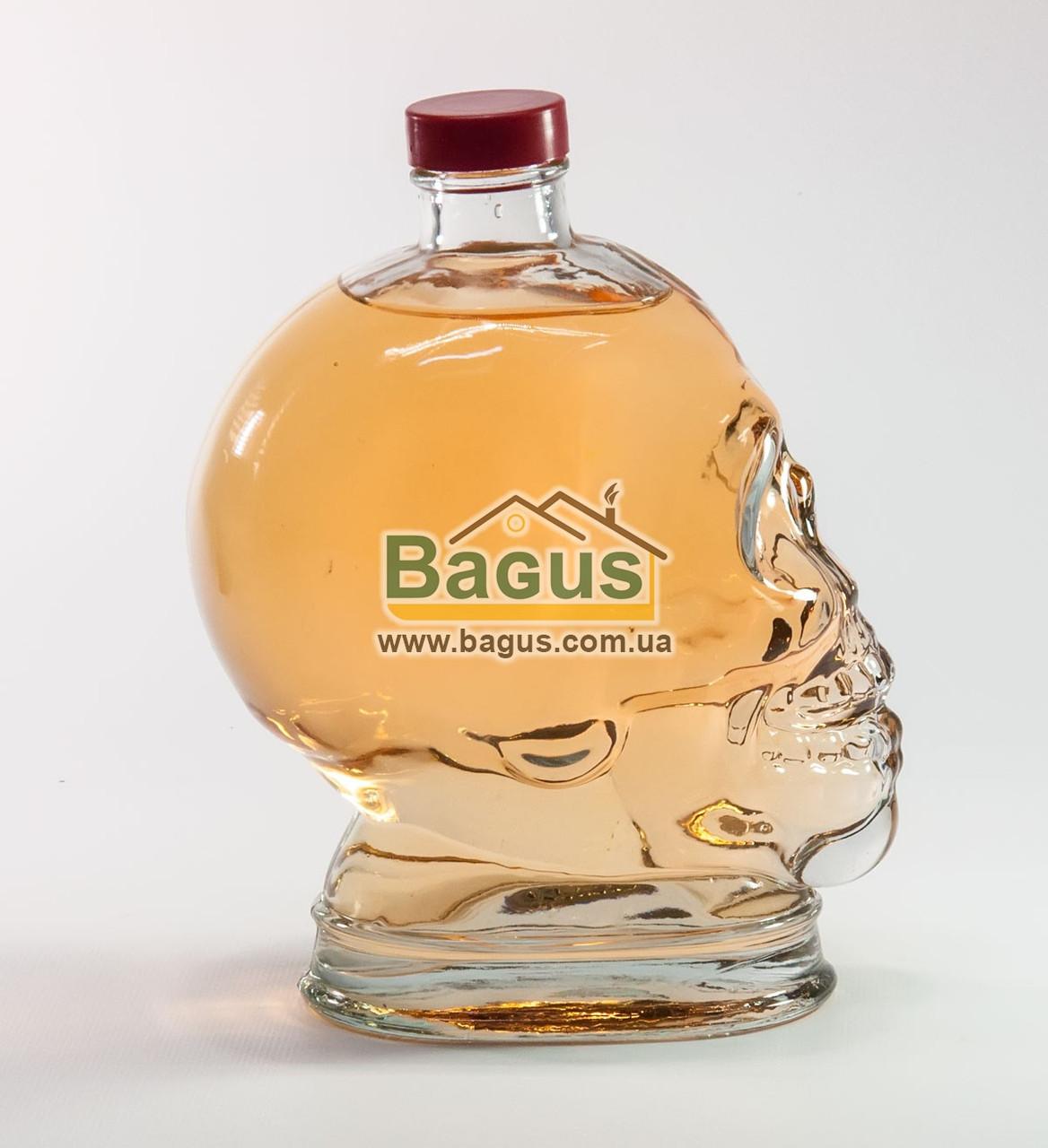 """Пляшка скляна 1л з кришкою у вигляді людського черепа """"Череп"""""""