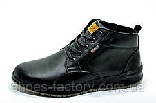 Кожаные ботинки в стиле Ecco, Зимние, фото 2