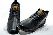 Кожаные ботинки в стиле Ecco, Зимние, фото 3