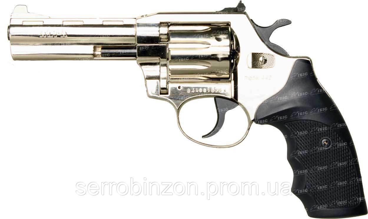 Револьвер Флобера Alfa 441, никелированный, 180 м/с, рукоятка - пласти
