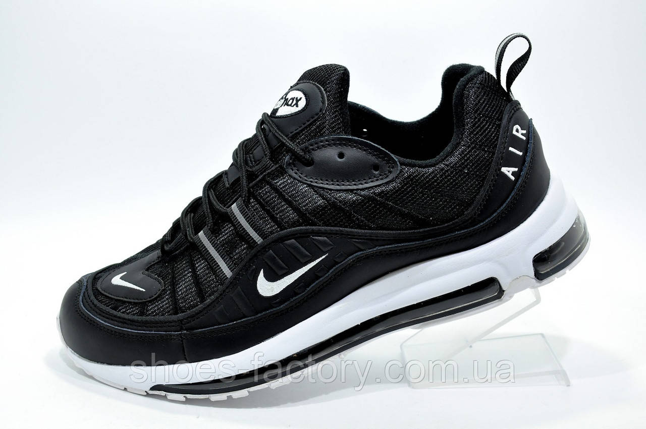 Мужские кроссовки в стиле Nike Air Max 98, Black\White (Аир Макс)