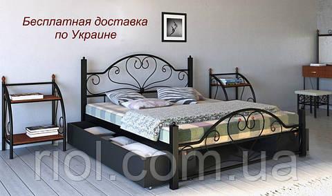 Кровать Джоконда из металла двуспальная
