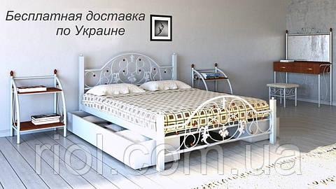 Кровать металлическая Жозефина двуспальная