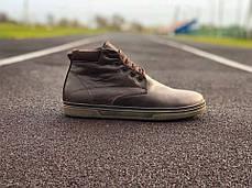 Мужские кожаные английские ботинки на меху коричневые, фото 2