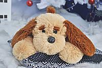 Мягкая игрушка собачка Тузик 50 см медовый