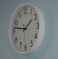 Настенные часы для офиса и дома, white (35 см.)