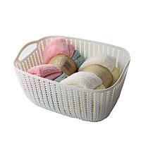 Корзинка для полотенец плетение 2 л Bathlux Flowers (70269)