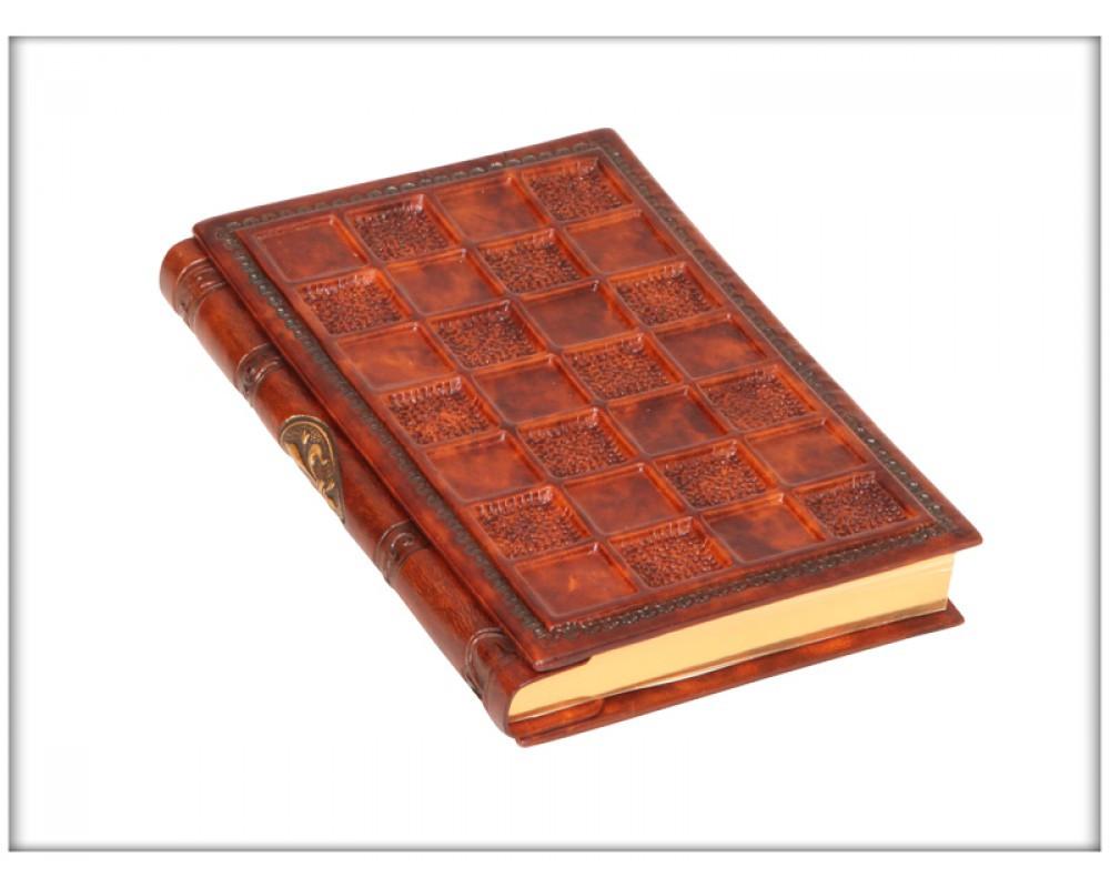 Дневник кожаный Florentia Сиена 15 x 22 см, в линию, кремовая бумага, золотой срез
