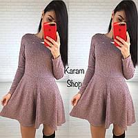 Женское шикарное платье из люрекса