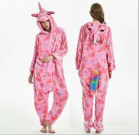 Пижама Кигуруми Единорог розовый в звездочку М (на рост 158-167) adb92e4be138c