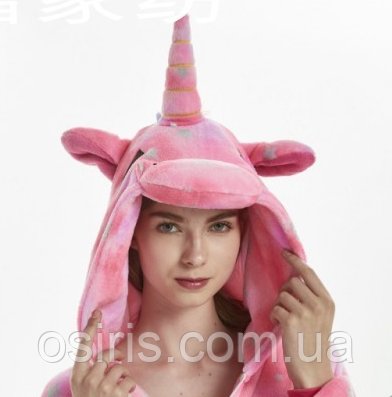 ... фото Пижама Кигуруми Единорог розовый в звездочку М (на рост 158-167) 4528aab1652e6