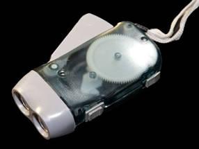 Светодиодный аккумуляторный динамо-фонарь SL-33 LED серый Код.59384