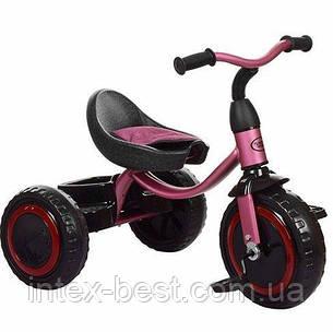 Трехколесный велосипед Turbotrike (M 3649-M-1) с пенополиуретановыми колесами (Пурпурный), фото 2