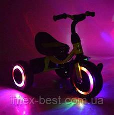 Трехколесный велосипед Turbotrike (M 3649-M-1) с пенополиуретановыми колесами (Пурпурный), фото 3