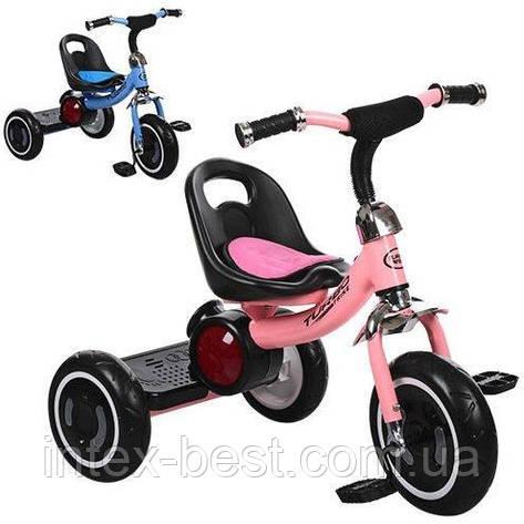 Трехколесный велосипед Turbotrike (M 3650-M-1) со свето-звуковыми эффектами (Розовый), фото 2