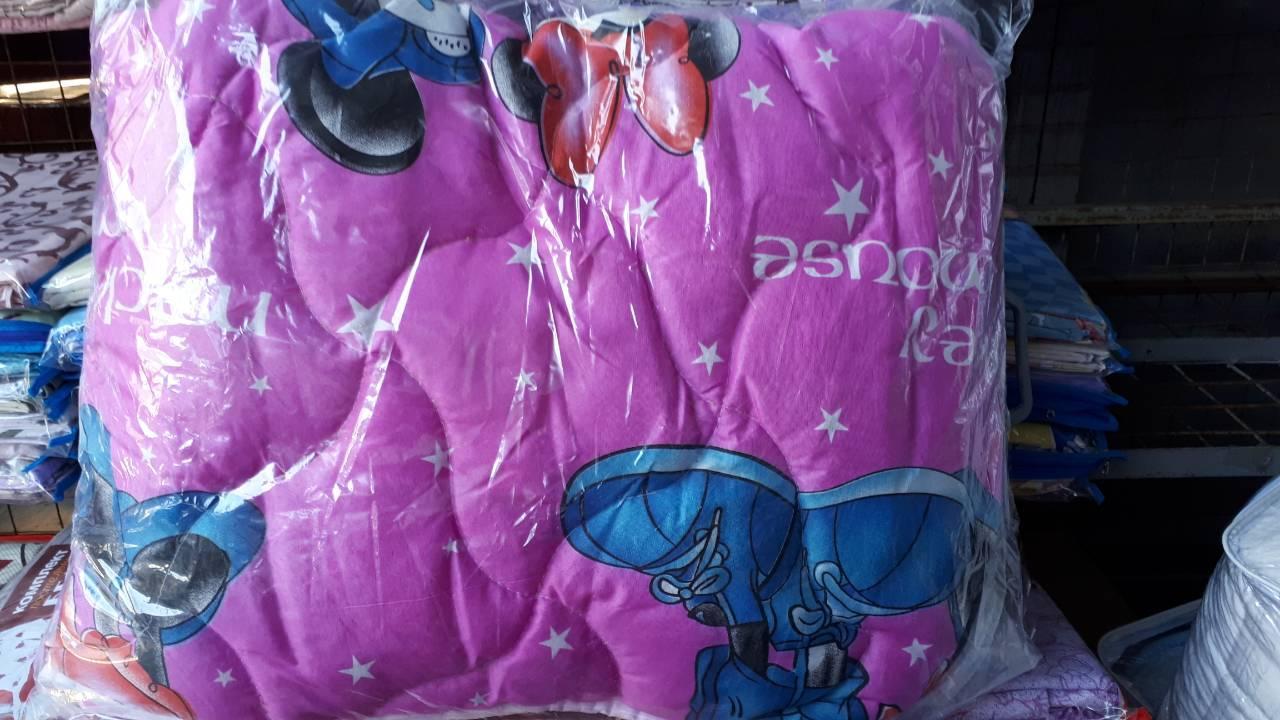 Красивое детское теплое одеяло двойной силикон +подушка