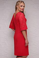 Платье женское нарядное вечернее красное с гипюром р-ы: Xl,2XL,3XL, фото 2