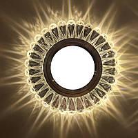 """Точечный светильник (с подсветкой """"3W"""")  Feron 7301 , фото 1"""