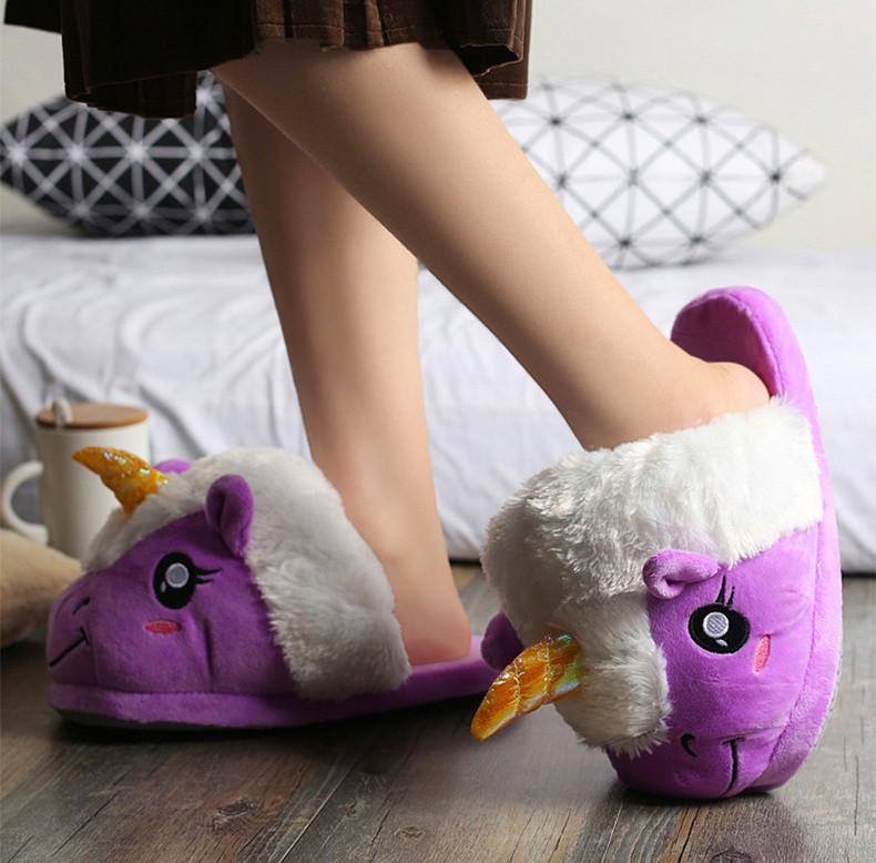 Тапочки Кигуруми Фиолетовый Единорог  продажа 7a5420f56e18a