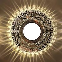 """Точечный светильник (с подсветкой """"3W"""")  Feron 7312 В (большой) , фото 1"""