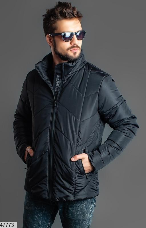 Мужская зимняя теплая куртка черная размеры:46,48,50,52